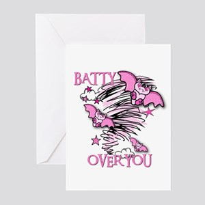 BATTY OVER YOU Greeting Cards (Pk of 10)