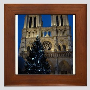 Notre Dame de Paris a NOEL Framed Tile