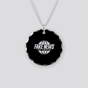 Fake News Network Necklace Circle Charm