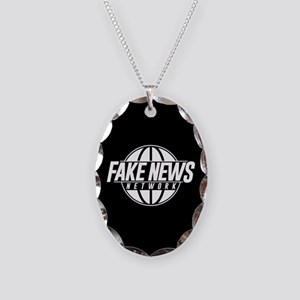Fake News Network Necklace Oval Charm