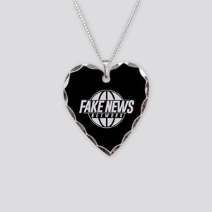 Fake News Network Necklace Heart Charm
