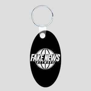 Fake News Network Aluminum Oval Keychain