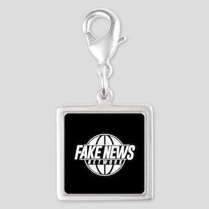Fake News Network Silver Square Charm