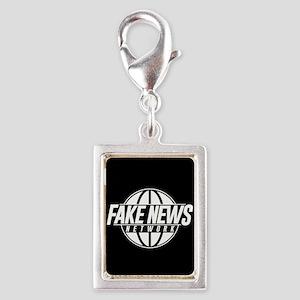 Fake News Network Silver Portrait Charm