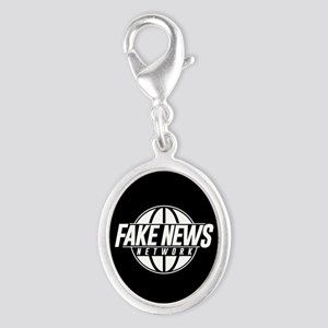 Fake News Network Silver Oval Charm