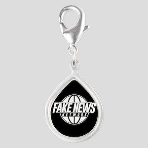 Fake News Network Silver Teardrop Charm