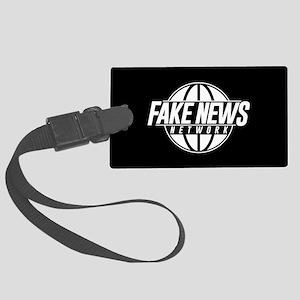 Fake News Network Large Luggage Tag