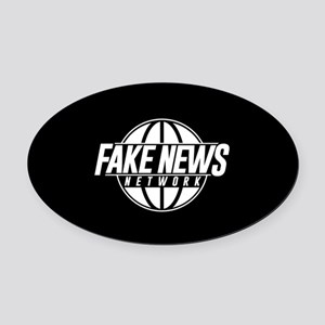 Fake News Network Oval Car Magnet