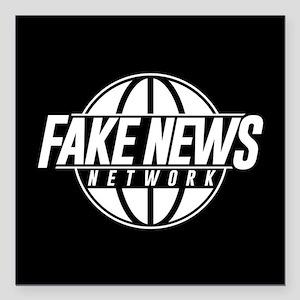 "Fake News Network Square Car Magnet 3"" x 3"""