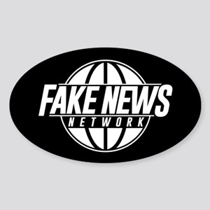 Fake News Network Sticker (Oval)