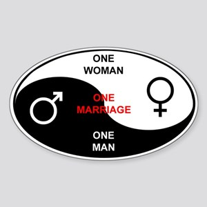 """""""Definition of Marriage"""" Oval Sticker"""