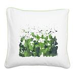 Forest Burst Square Canvas Pillow