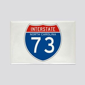 Interstate 73 - NC Rectangle Magnet