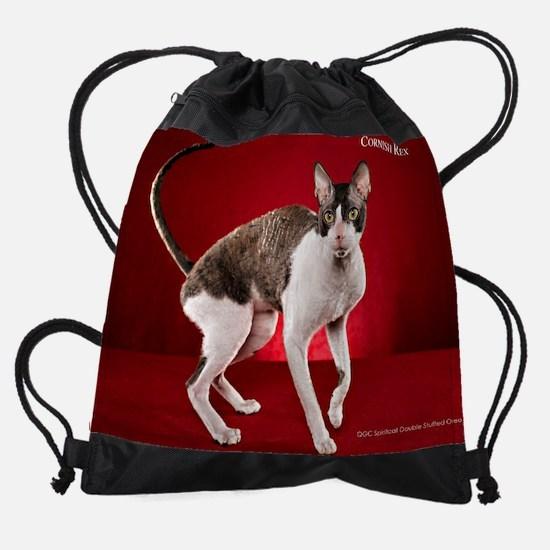 Cornish Rex Drawstring Bag
