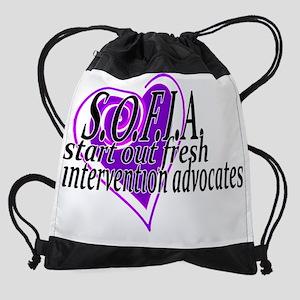 SOFIA HEART Drawstring Bag