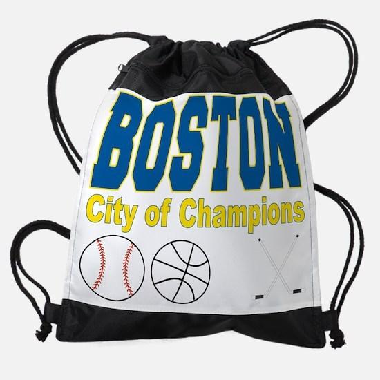Boston City of Champions Drawstring Bag