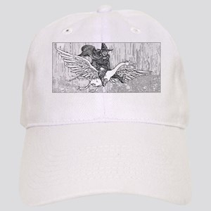 Mother Goose flying Baseball Cap