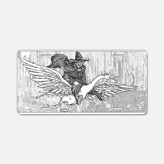 Mother Goose flying Aluminum License Plate