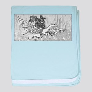 Mother Goose flying baby blanket