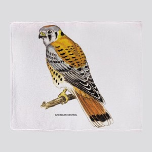 American Kestrel Bird Throw Blanket