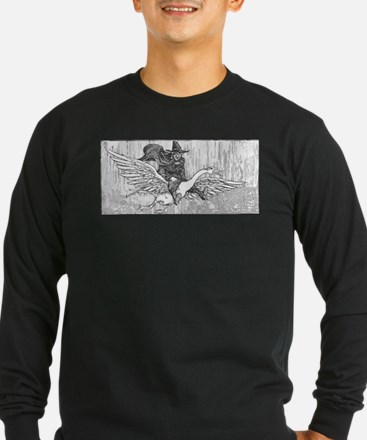 Mother Goose flying Long Sleeve T-Shirt