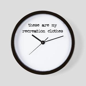 Recreation Clothes Wall Clock