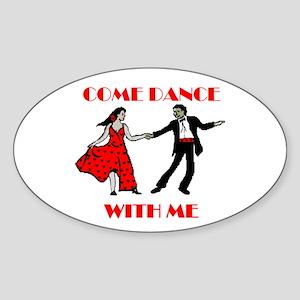LOVE DANCING Oval Sticker
