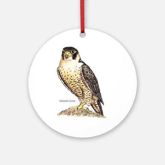 Peregrine Falcon Bird Ornament (Round)