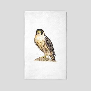 Peregrine Falcon Bird 3'x5' Area Rug