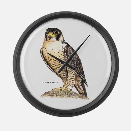 Peregrine Falcon Bird Large Wall Clock