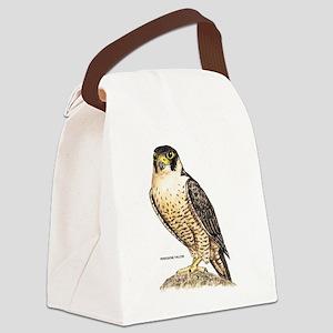 Peregrine Falcon Bird Canvas Lunch Bag