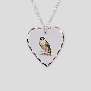 Peregrine Falcon Bird Necklace Heart Charm