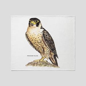 Peregrine Falcon Bird Throw Blanket