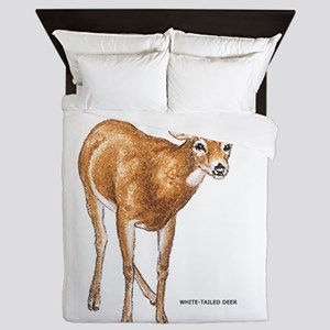 White Tailed Deer Queen Duvet