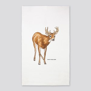 White Tailed Deer 3'x5' Area Rug