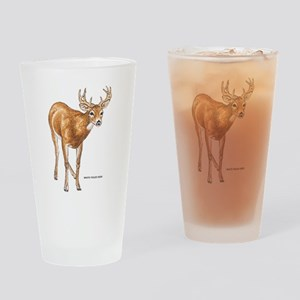 White Tailed Deer Drinking Glass