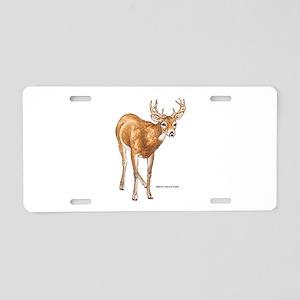 White Tailed Deer Aluminum License Plate
