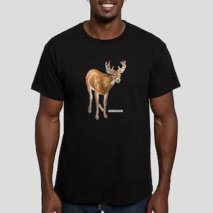 White Tailed Deer Men's Fitted T-Shirt (dark)