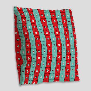 Split complementary Modern Abs Burlap Throw Pillow