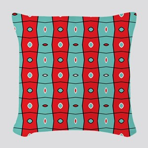 Split complementary Modern Abs Woven Throw Pillow