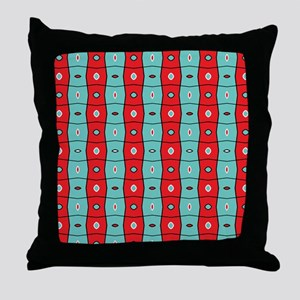 Split complementary Modern Abstract p Throw Pillow