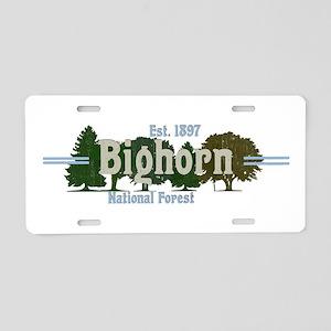 Woodcut Classic Bighorn Nat Aluminum License Plate