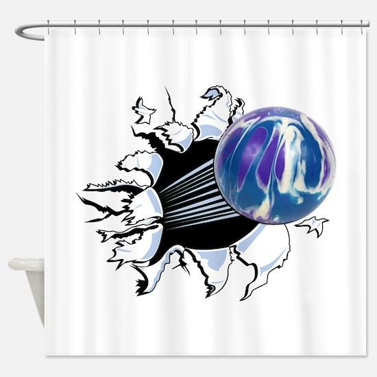 Breakthrough Bowling Ball Shower Curtain