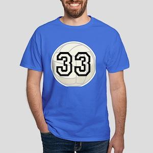 Volleyball Player Number 33 Dark T-Shirt