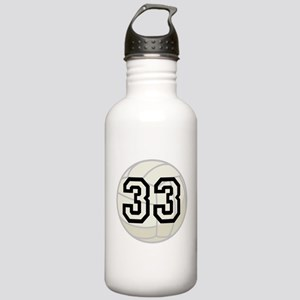 Volleyball Player Number 33 Stainless Water Bottle