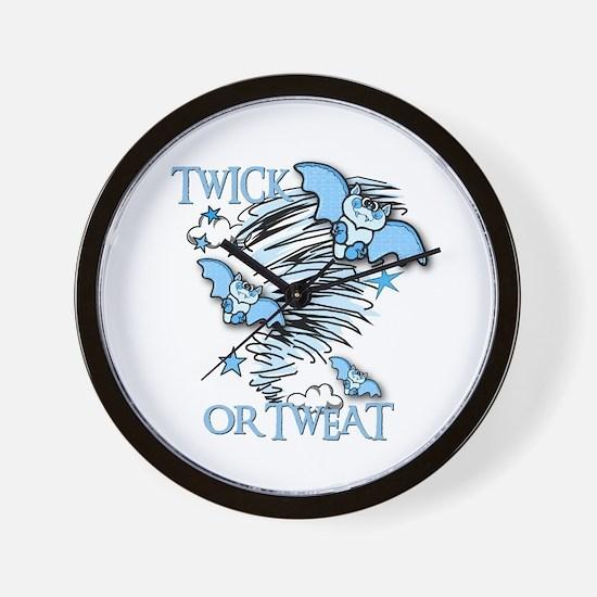 TWICK OR TWEAT Wall Clock