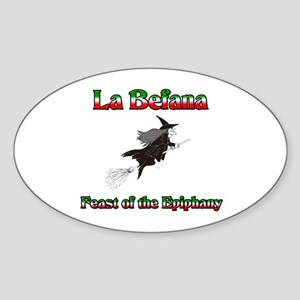 La Befana Oval Sticker