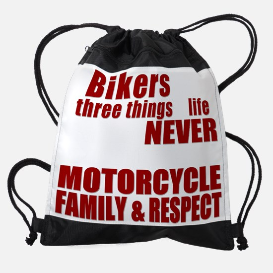 Three Things - Bikers Drawstring Bag