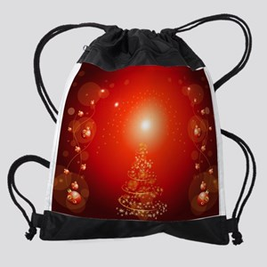 Christmas tree Drawstring Bag