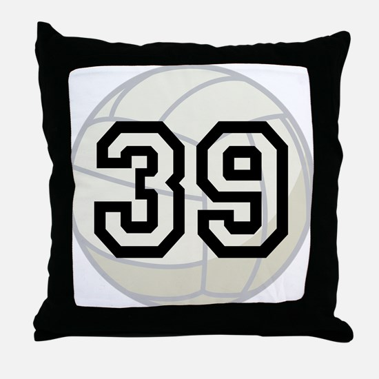 Volleyball Player Number 39 Throw Pillow
